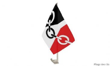Black Country Car Flag